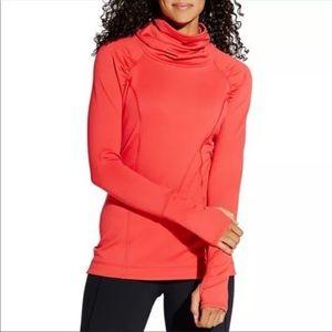 Calia Funnel Neck Sweatshirt Red Medium